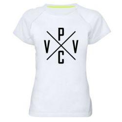 Женская спортивная футболка V.V.P.C