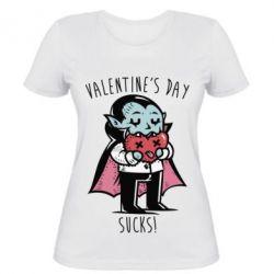 Женская футболка Valentine's day SUCKS!