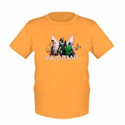 Дитяча футболка Valorant characters