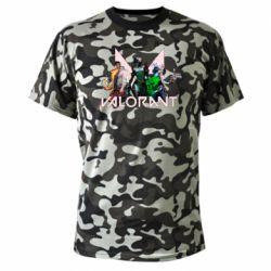 Камуфляжна футболка Valorant characters