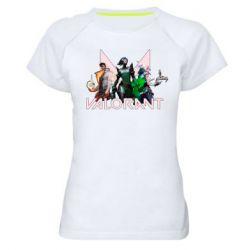 Жіноча спортивна футболка Valorant characters