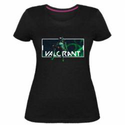 Жіноча стрейчева футболка Valorant player