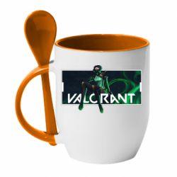 Кружка з керамічною ложкою Valorant player