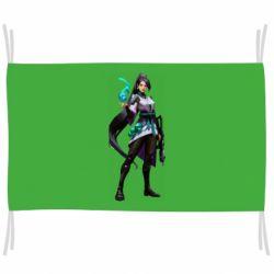 Флаг Valorant Sage