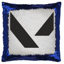 Подушка-хамелеон Valorant sign