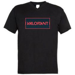 Чоловіча футболка з V-подібним вирізом Valorant text