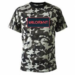 Камуфляжна футболка Valorant text