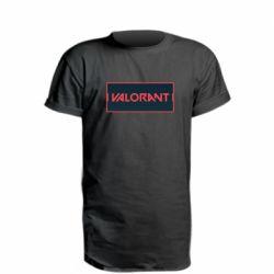 Подовжена футболка Valorant text
