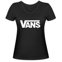 Женская футболка с V-образным вырезом Vans - FatLine