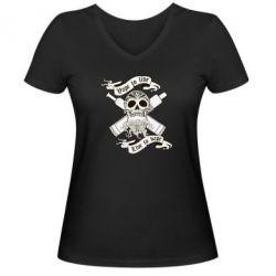 Женская футболка с V-образным вырезом Vape to live - FatLine
