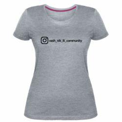 Женская стрейчевая футболка Vash nik