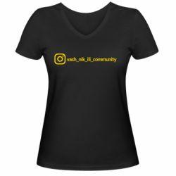 Женская футболка с V-образным вырезом Vash nik