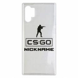Чехол для Samsung Note 10 Plus Ваш псевдоним в игре CsGo