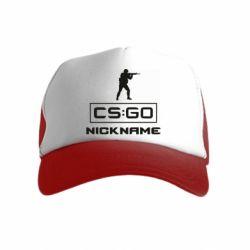 Детская кепка-тракер Ваш псевдоним в игре CsGo