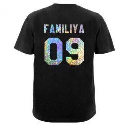 Мужская футболка Ваша фамилия и номер голограмма