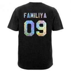 Мужская футболка  с V-образным вырезом Ваша фамилия и номер голограмма