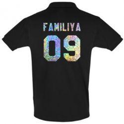 Мужская футболка поло Ваша фамилия и номер голограмма