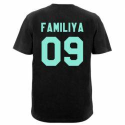 Мужская футболка  с V-образным вырезом Ваша фамилия и номер - FatLine