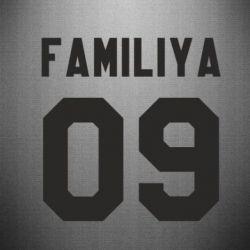 Наклейка Ваша фамилия и номер - FatLine