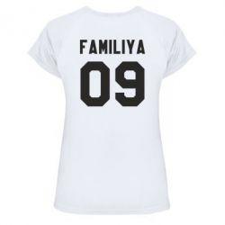 Женская спортивная футболка Ваша фамилия и номер - FatLine