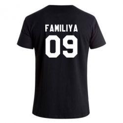 Мужская стрейчевая футболка Ваша фамилия и номер - FatLine