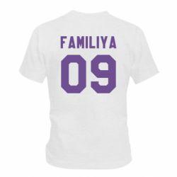 Детская футболка Ваша фамилия и номер - FatLine