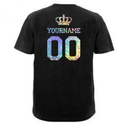 Футболка Ваше имя корона голограмма