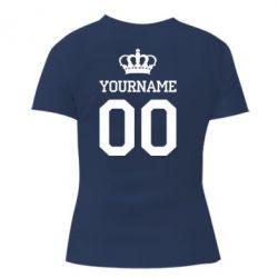 Женская футболка Ваше имя корона