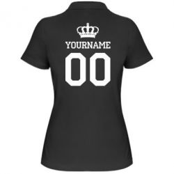 Женская футболка поло Ваше имя корона