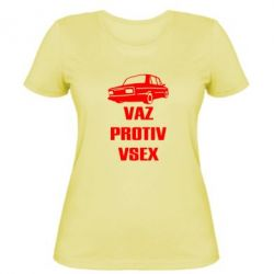 Женская футболка Vaz protiv vsex