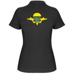 Женская футболка поло ВДВ з гербом