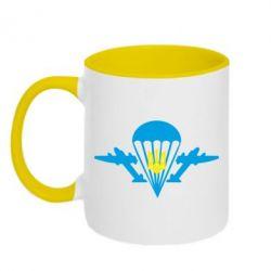 Кружка двухцветная ВДВ з гербом