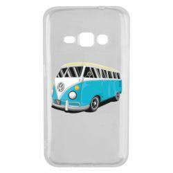Чехол для Samsung J1 2016 Vector Volkswagen Bus