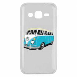 Чехол для Samsung J2 2015 Vector Volkswagen Bus