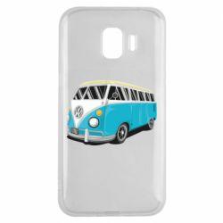 Чехол для Samsung J2 2018 Vector Volkswagen Bus
