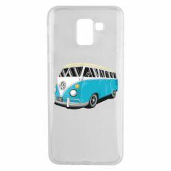 Чехол для Samsung J6 Vector Volkswagen Bus