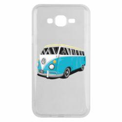 Чехол для Samsung J7 2015 Vector Volkswagen Bus