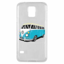Чехол для Samsung S5 Vector Volkswagen Bus