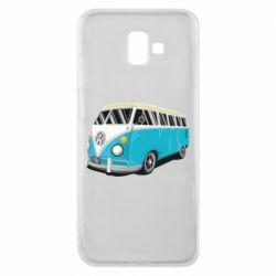 Чехол для Samsung J6 Plus 2018 Vector Volkswagen Bus