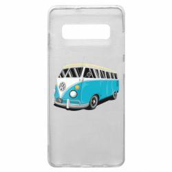 Чехол для Samsung S10+ Vector Volkswagen Bus