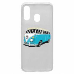 Чехол для Samsung A40 Vector Volkswagen Bus