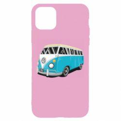 Чехол для iPhone 11 Vector Volkswagen Bus