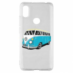Чехол для Xiaomi Redmi S2 Vector Volkswagen Bus