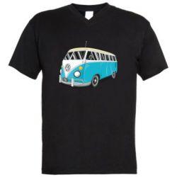 Мужская футболка  с V-образным вырезом Vector Volkswagen Bus