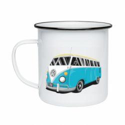 Кружка эмалированная Vector Volkswagen Bus