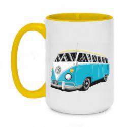 Кружка двухцветная 420ml Vector Volkswagen Bus