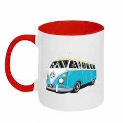 Кружка двухцветная 320ml Vector Volkswagen Bus