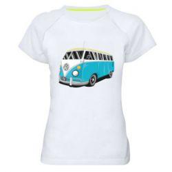 Женская спортивная футболка Vector Volkswagen Bus