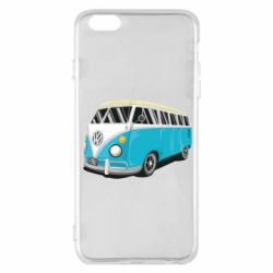 Чехол для iPhone 6 Plus/6S Plus Vector Volkswagen Bus
