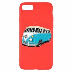 Чехол для iPhone 7 Vector Volkswagen Bus